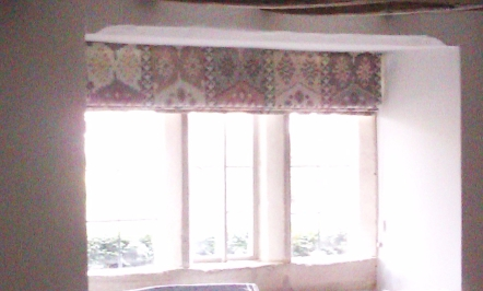 Interlined roman blind - made to measure, Gloucestershire