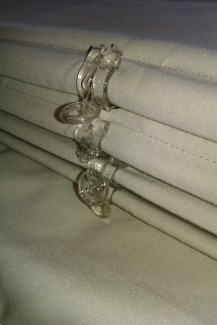 Interlined roman blind detail - made to measure, Gloucestershire