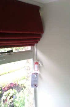 Lined roman blind - Made to measure, Stow on the Wold