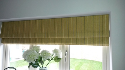 Made to measure roman blinds in recess - Winchcombe