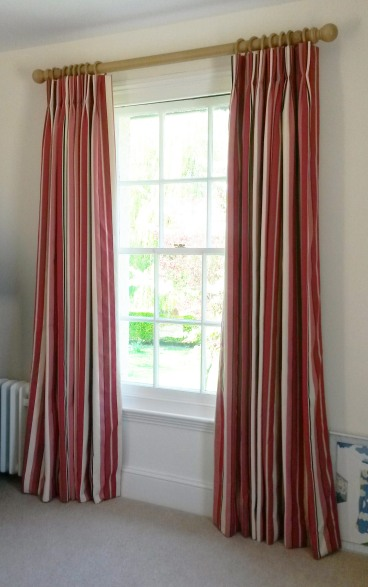 Lined and interlined triple / pinch pleat made to measure curtains, Dumbleton