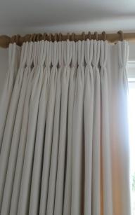 Triple pleat curtains