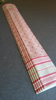 Made to measure roman blind made with 2 contrasting fabrics - Winchcombe