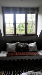 Mulberry Stitchwork made to measure roman blind - Oxford