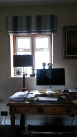 Kit Kemp Bookends fabric - roman blind