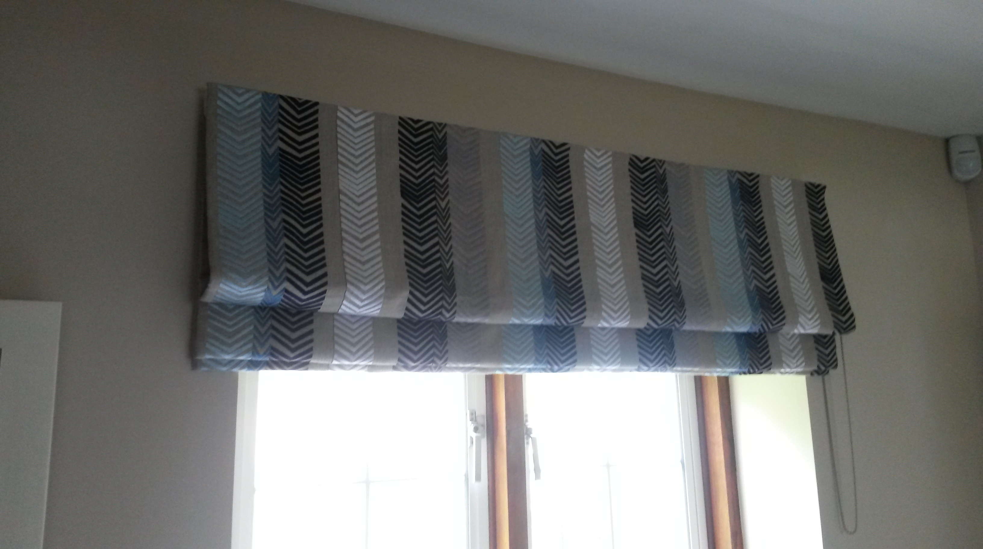 Kit Kemp Bookends used for made to measure roman blind - Oxford