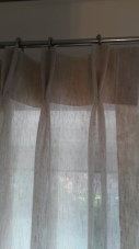 double pleat linen voile - Bishops Cleeve