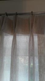 double pleat linen voile - Bishops Cleeve