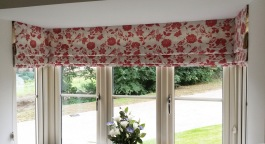Roman blinds in a square bay