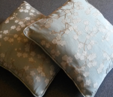 Piped and zipped cushions bespoke Winchcombe