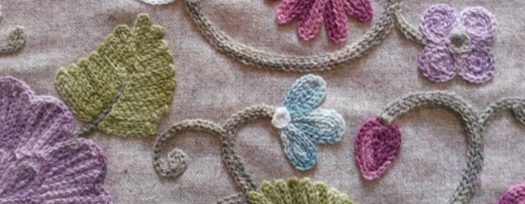 Crewel work fabric
