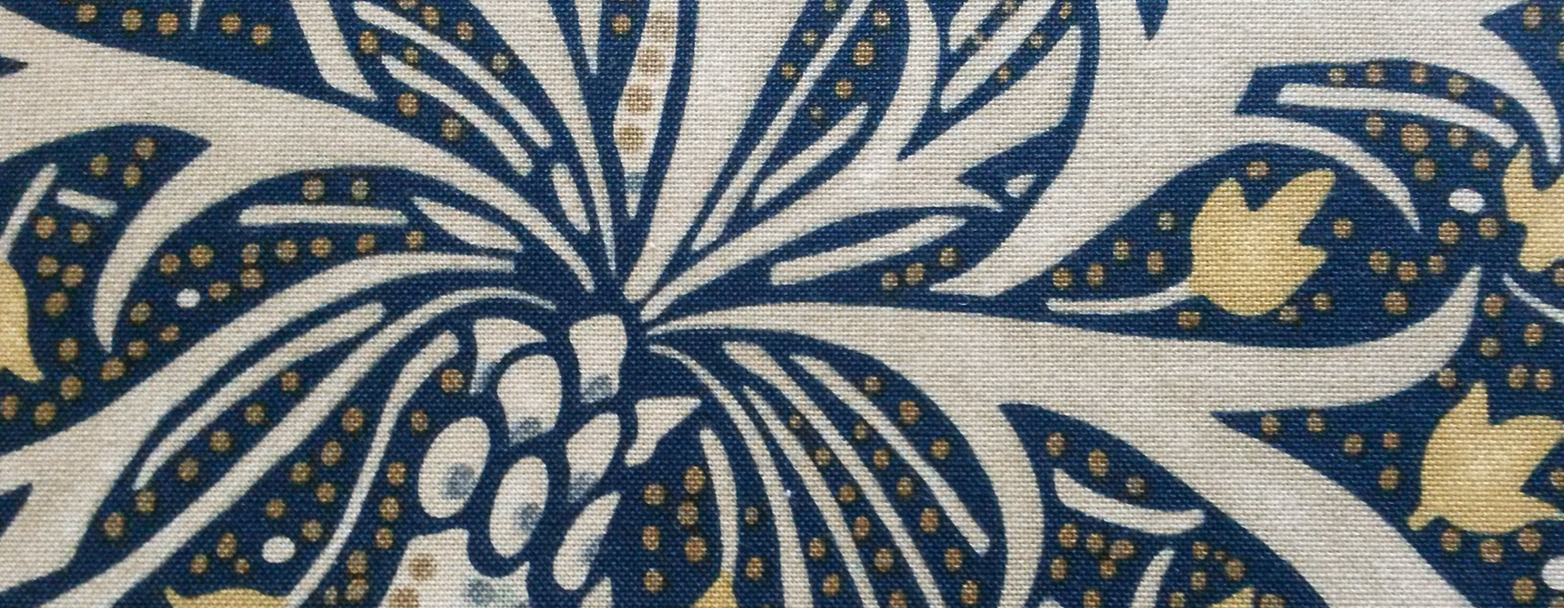 William Morris fabric used for triple pleat interlined curtains