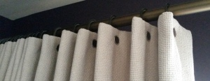 Walcot House pleating rings and rivets used on interlined curtains - Oxford