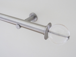 30mm stainless steel curtain pole set acrylic ball finial