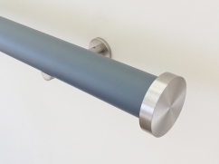 50mm lead matt lacquered pole withmini disc finial SS
