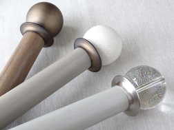 group 50mm dia. stained wood curtain pole collection