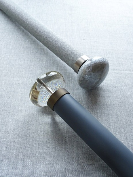 group Acrylic and Riva ellipses on 50mm diameter curtain poles 2