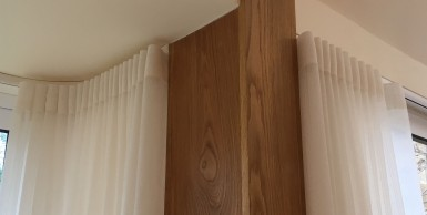 Voile wave curtain on 5m ceiling fix track