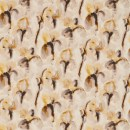 Curtains made in Zoffany Water Iris in Gold/Charcoal