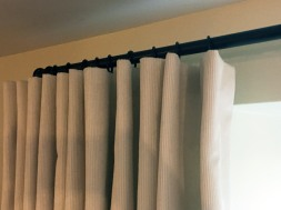 Mock wave curtains in Designers Guild corduroy on French 19mm curtain pole